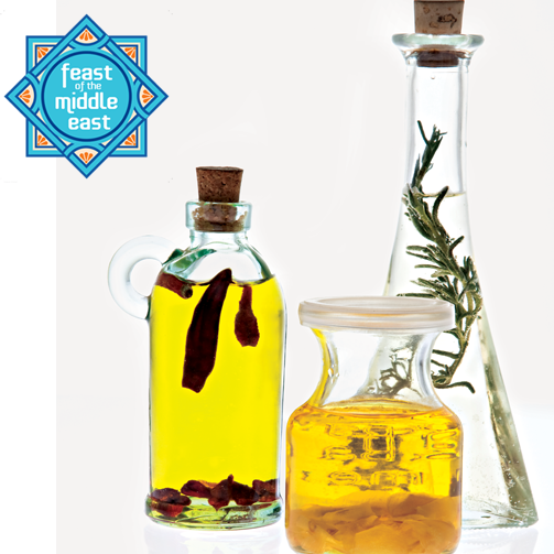 Add that extra zing of flavour to your cooking with flavoured olive oil. Buy it from our stores and cook up a great Middle Eastern feast of your own.