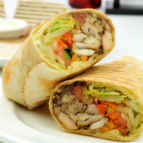 A shawarma is the perfect on-the-go food. Healthy, delicious with just the right amount of zing.