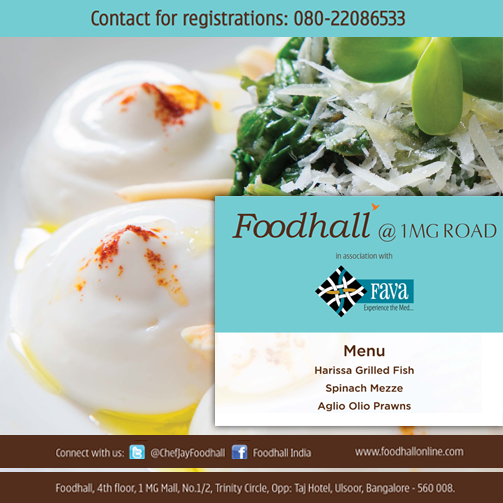 #Bangalore! Sign up for the Foodhall #Masterclass right away. #Cooking