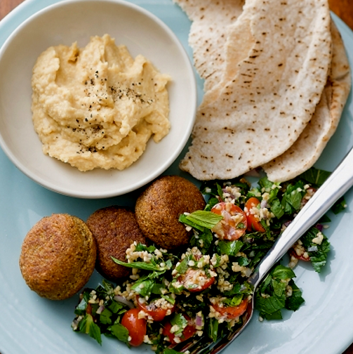 Our favourite kind of dip is definitely hummus and tabouleh!