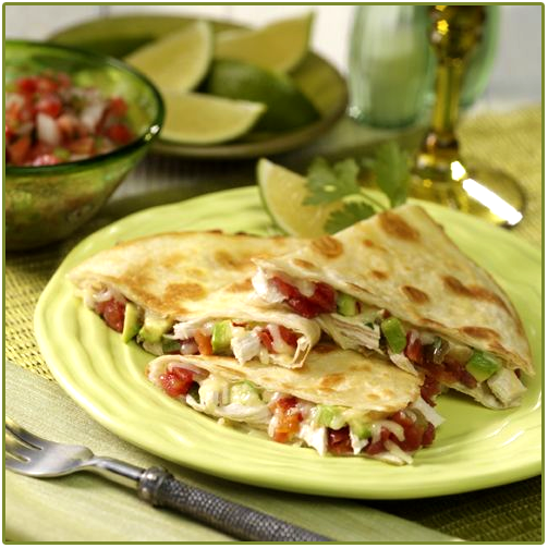 Enjoy a quesadilla for dinner today. Yes?