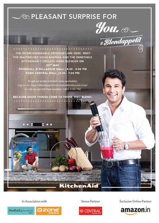 Are you ready to enjoy a special session with Masterchef Vikas Khanna at FoodHall @ Palladium Mall on 20th May?