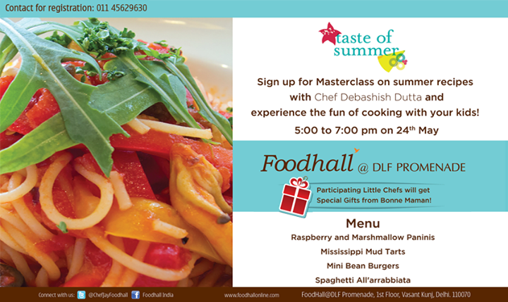 The kids #Masterclass is happening at Foodhall DLF Promenade, Delhi with Chef Debashish Dutta. Register NOW!