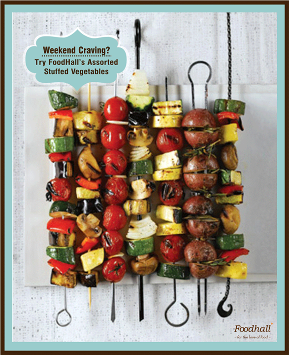 Planning something special for Weekend but out of ideas?  Relish this amazing Assorted Stuffed Vegetables On Skewers which takes only 90 minutes of cooking!   Read recipe here - http://bit.ly/StuffedVeggies