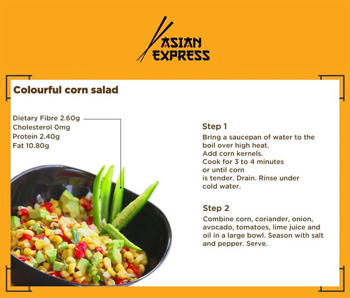 For a delicious snacking time, try this Colourful Corn Salad Easy to prepare. Yum to Eat!