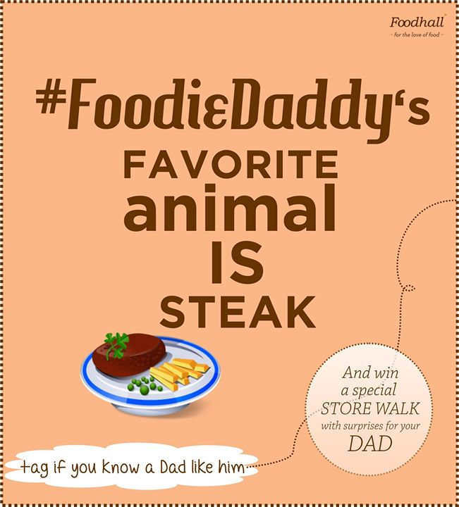 We're looking for #FoodieDaddy and here's a clue on how he is.  Do you know anyone similar?  Tag him and get a chance to win a super prize for your Dad!