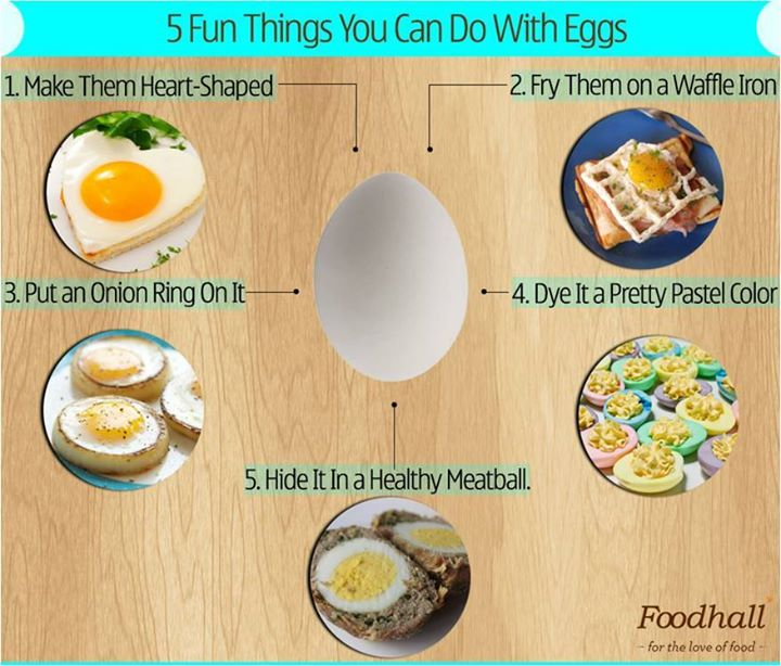 One Egg short of the omelette? Here's five amazing things you can do with Eggs