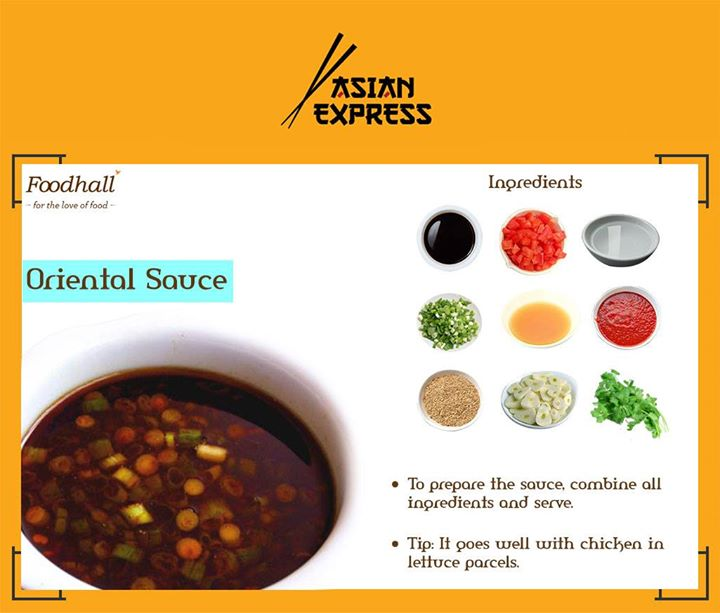 Add an Asian twist to your meals with this quick, easy to prepare oriental sauce.
