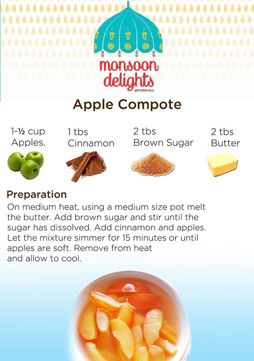 Apple Compote- A great way to use up a glut of apples, and makes a delicious breakfast or healthy dessert.