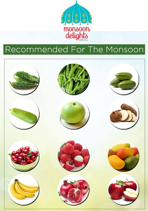 Monsoons are as risky as they are exciting. It is essential to watch your health during the monsoon. Here's a list of recommended foods to keep your health in check.