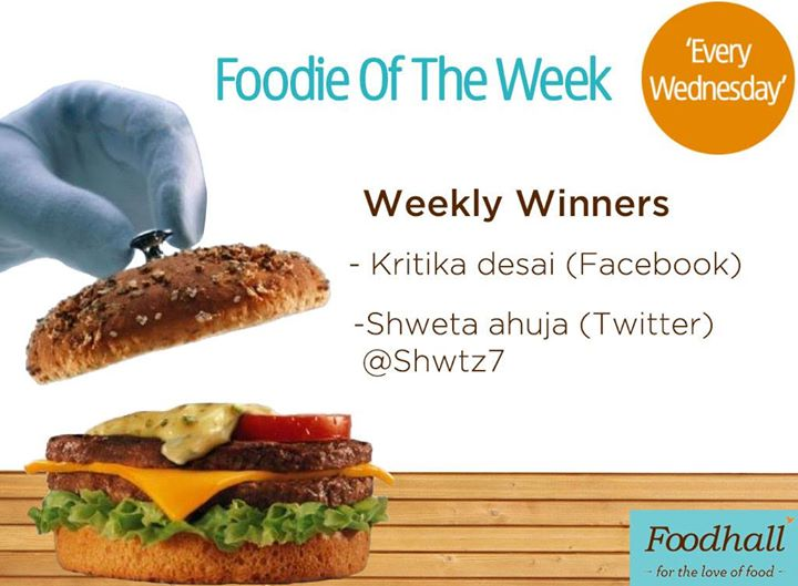 Congratulations to last week's winners of #FoodieOfTheWeek and a big thank you to all those who participated. Bring on the enthusiasm to win vouchers every Wednesday by simply uploading your food creation!