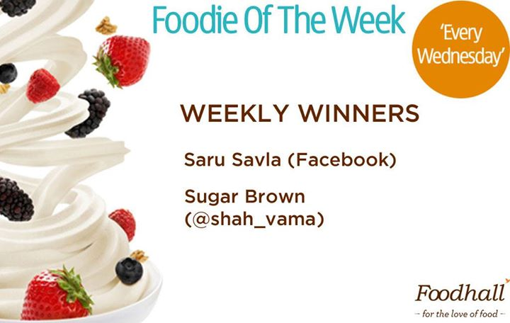 Three cheers for last week's winners of our #FoodieOfTheWeek contest! Congratulations to the winners and thank you to all those who participated. Don't lose hope as you can stand a chance to win next Wednesday. Upload your food creation and send us your entries  soon!