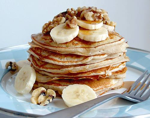 The goodness of banana and walnuts in one classic delight.  Here's a quick and easy way to whip up pancakes at home: http://bit.ly/pancakesrecipe