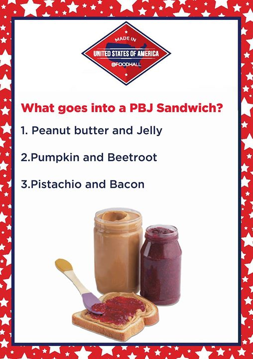 Do you know what the yummy PBJ sandwich is made of?