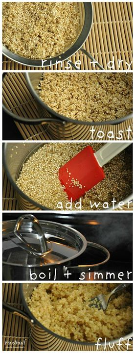 Here's a quick and easy way to prepare this healthy wonder grain, Quinoa!