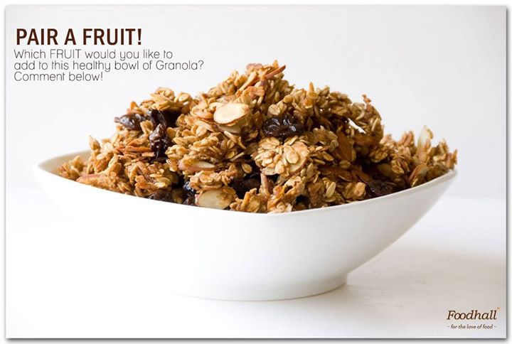 How about some granola for those hunger pangs? Tell us which fruit you'd like to pair it with!  #FruitOfTheDay #MorningMunchies #GoodnessOverload #Superfoods #HealthyEating #HealthFestival