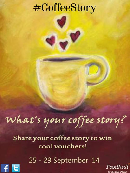 #ContestAlert #CoffeeStory  Do have any story when it didn't feel like just another cup of coffee? With National Coffee Day just around the corner, we'd like you to share a few of your coffee stories.  Cool vouchers up for grabs!