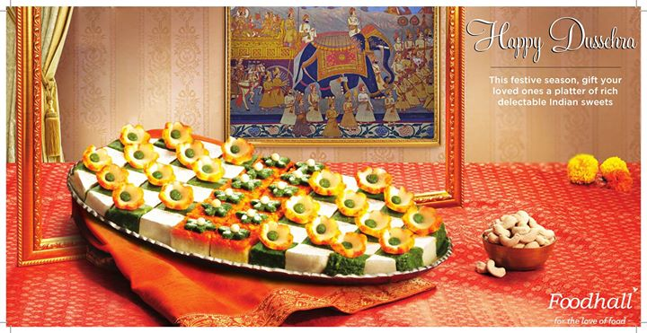 Treat your loved ones to our platter of delicious Indian sweets on the auspicious occasion of Dussehra.