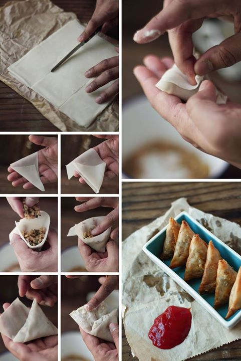 Samosas- A must-have on your festive menu, here's how you can prepare these pockets of delight.  Courtesy: Pinterest