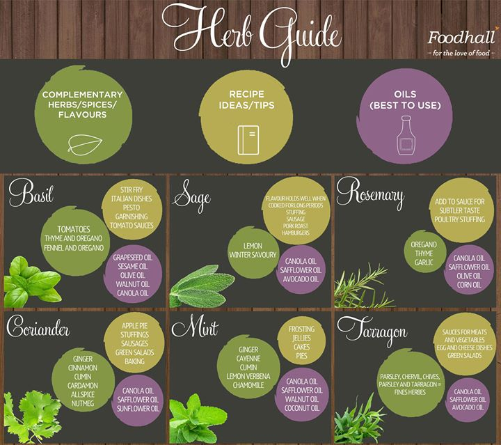 Picking up herbs? Here's a handy herb guide to help you out! #HerbGuide