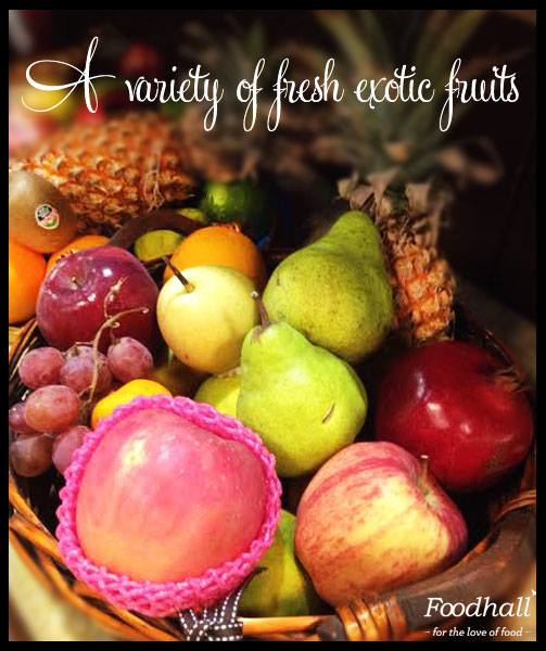 A hamper full of goodness!  Explore the fresh variety of exotic fruits in beautifully arranged baskets, perfect for one and all