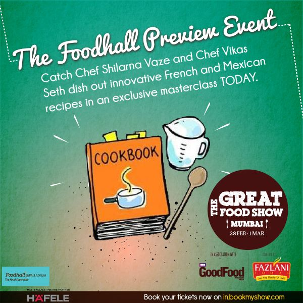 Hope you're on your way to Foodhall at Palladium Mall, Mumbai already! Catch an exclusive sneak peek of #TheGreatFoodShow between 3 pm to 5 pm today