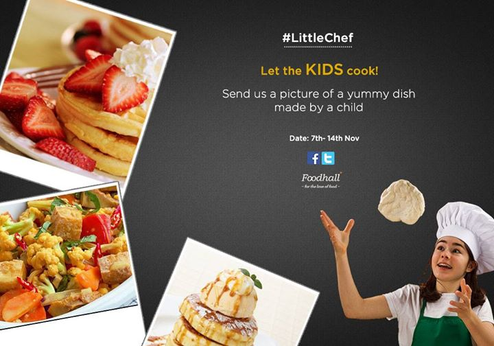 #ContestAlert  Children's Day is just around the corner and we're looking for our #LittleChef! Click a picture of a dish made by a child and upload it on our page with #LittleChef  5 Chocolate hampers up for grabs!