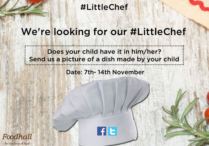 We're here to make Children's day a lot more special :D  Temptingly delicious hampers up for grabs!   All you have to do is click a picture of a child's food creation and upload it on our page using #LittleChef