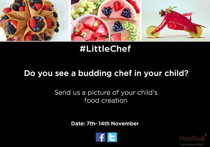 Children's day is here! Have you participated in our #LittleChef contest yet?  Stand a chance to win our delectable hampers!  Simply click a picture of a child's food creation and upload it on our page using #LittleChef