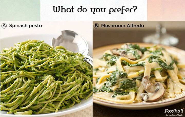 This one's for all you pasta lovers out there!  Pick your choice :)