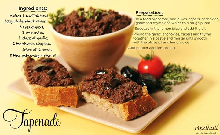 Tapenade - the perfect nibble to serve with late summer drinks and bruschetta