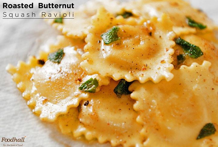 A delicious blend of roasted butternut squash and cheese in flavourful ravioli.  You're in for a treat at Foodhall!