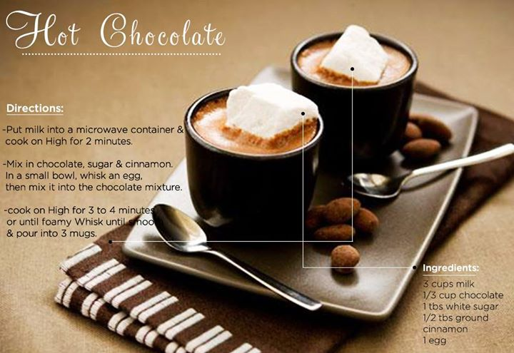 All the warmth and goodness of the season in a cup- Hot Chocolate   Resist no more, treat yourself with this quick recipe!