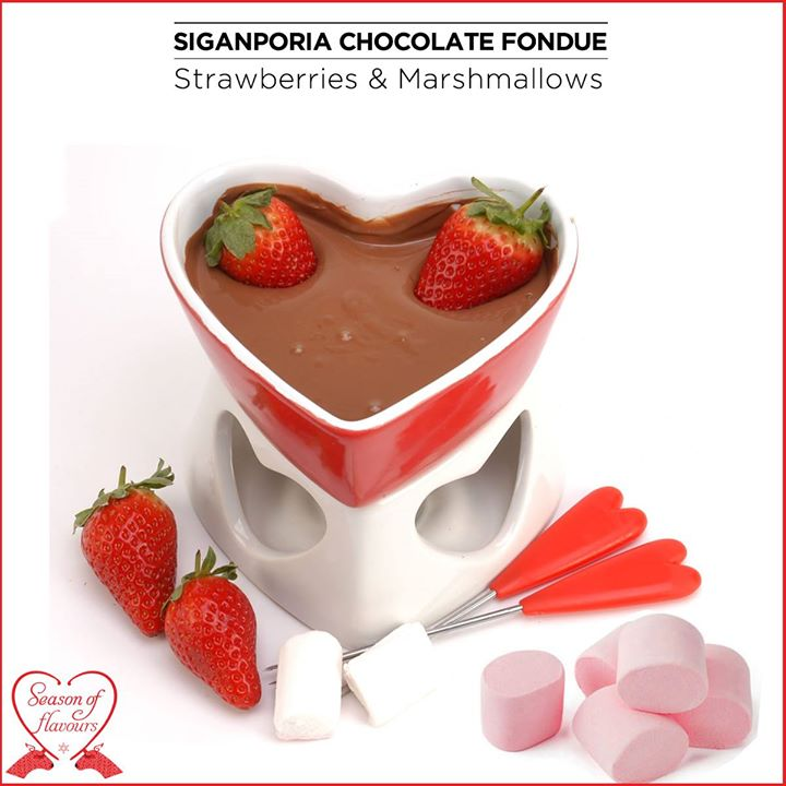 Strawberries and marshmallows to take chocolate fondue to a whole new level of tempting.  Give in to your guilty pleasure at Foodhall!
