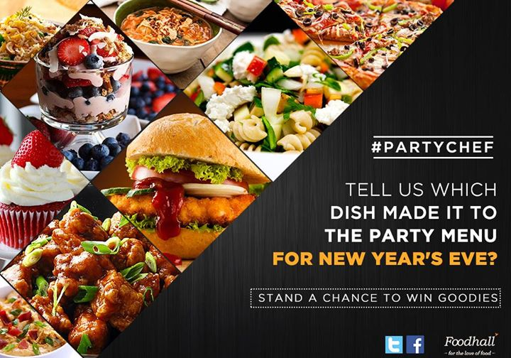 #ContestAlert #PartyChef  Who's excited for new year's eve? We've got an exciting contest just for you!  Tell us what are you cooking or ordering for new year's eve & win goodies