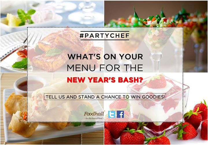 #ContestAlert: Our #PartyChef contest is open only till today!  Tell us what you had on your party menu for new year's?  Stand a chance to win goodies!