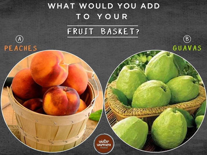 Which fruit is enhancing your Winter Fruit Basket?  Peaches, Guavas or anything else? Comment below