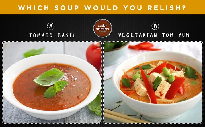 What better than a generous helping of hot soup on a cold winter's day? Comment below with the choice of soup you'd like :)