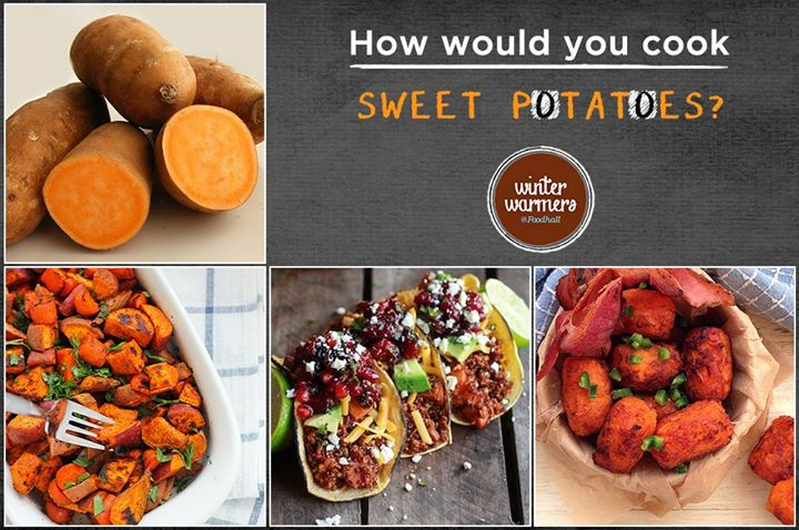 Healthy and delicious, sweet potatoes can be used in a variety of ways! Tell us how you would use it in your meal?