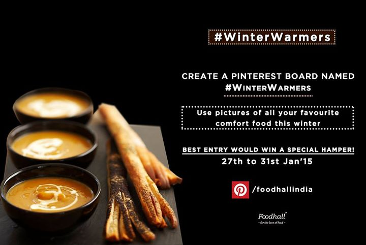 We've got an interesting contest for you on Pinterest. Follow us at www.pinterest.com/foodhallindia  Create a Pinterest board named