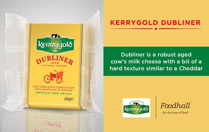 Kerrygold Dubliner- Elements of mature cheddar, sweet nutty tones of a Swiss and the piquant bite of aged Parmesan  Taste the magic at Foodhall!  #CheeseSpecials #Flavour Kerrygold