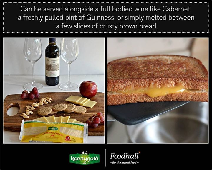 With a diversity of flavors from nutty to sharp to sweet, Dubliner Cheese works wonders with the right wine or crusty bread.  Taste the goodness at our stores!  #CheeseSpecials Kerrygold