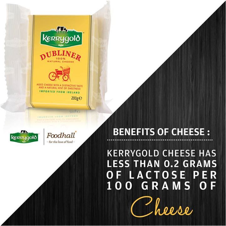 You wouldn't have even qualms with the lactose content in Kerrygold cheese. One excuse down! When are you visiting us to taste the goodness?  #Benefits #Cheese #Irish #Kerrygold