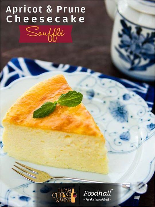A Moist and Fluffy Soufflé Cheesecake with the goodness of apricot and prunes.  Pamper  your sweet tooth at Foodhall!