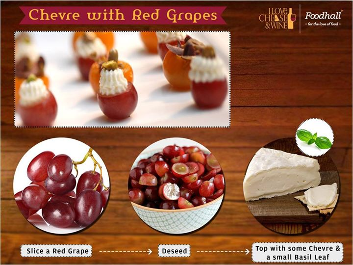 These little mouthfuls are fun to serve at cocktail parties and work very well with both red and white wine  #Chevre #RedGrapes #Wine