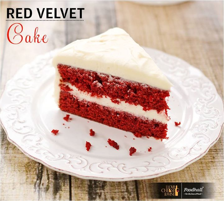 All about the drama, taste the delectable red velvet cake which is super moist and so divine!