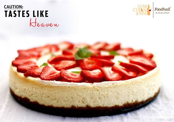 You're in for a heavenly treat at Foodhall! Delight your taste buds with our decadent Strawberry Cheesecake.