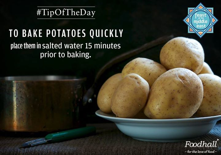 Baking your favourite comfort food? Here's how to bake those yummy potatoes and satisfy those cravings a little faster!