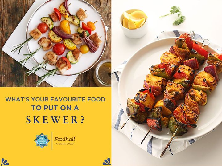 Spicy chicken or healthy veggies? What are you stacking up on a skewer this weekend?