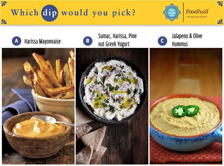 Fiery Harissa, Versatile Greek yogurt, Zingy hummus, what's your go-to dip to pair with your favourite food?